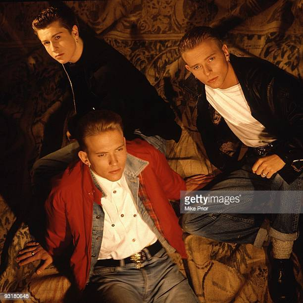 Bros posed in London in 1987 LR Craig Logan Matt Goss Luke Goss