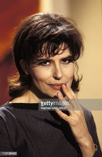 TV ' Broth of culture' FArdant Roman Polanski JConlon and Hughes Gall in Paris France on November 21 1996 Fanny Ardant