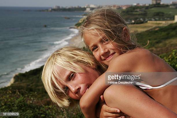 brother and sister in biarritz - aquitaine stock photos and pictures