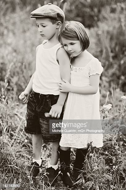 brother and sister - flat cap stock pictures, royalty-free photos & images