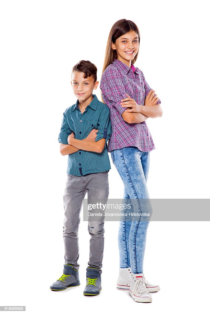 brother and sister : Stock Photo