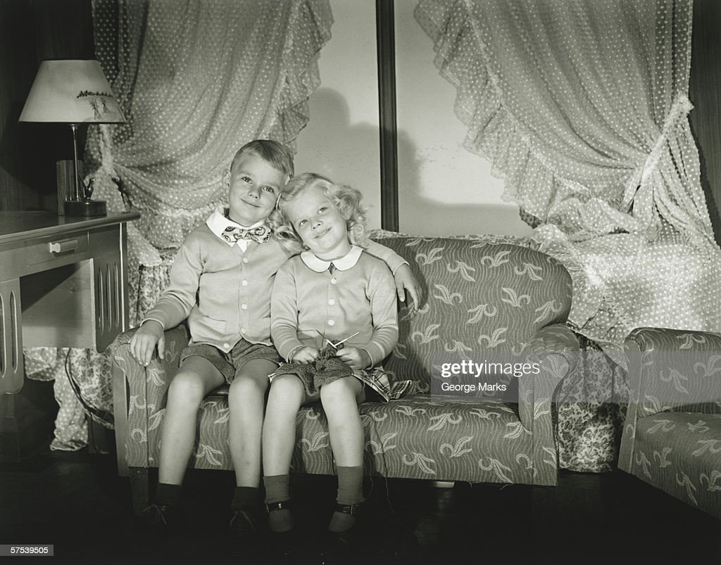 Portrait Of Twin Brother And Sister High-Res Stock Photo