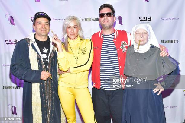 Brother Dwight Ollie Problemas Director Rob Ryan and Sister Kate attend a special screening of Breaking Habits at The Montalban on April 20 2019 in...