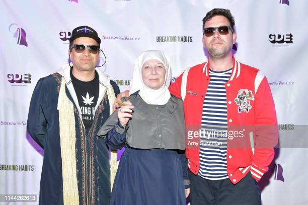 Brother Dwight Sister Kate and Director Rob Ryan attend a special screening of Breaking Habits at The Montalban on April 20 2019 in Hollywood...