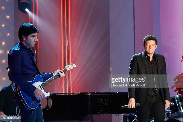 Brother of Patrick Bruel Producer and Musician of the Album David Francois Moreau and Main Guest of the Show Singer Patrick Bruel perform and present...
