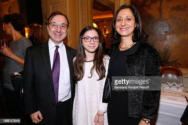 Brother of Stephane Armand Bern with his wife Josephine Bern and their daughter Lea Bern attend the 50th Anniversary party of Stephane Bern called...