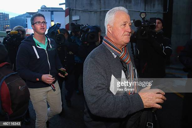 Brother Ralf Schumacher and father Rolf Schumacher arrive at the Grenoble University Hospital Centre where former German Formula One driver Michael...