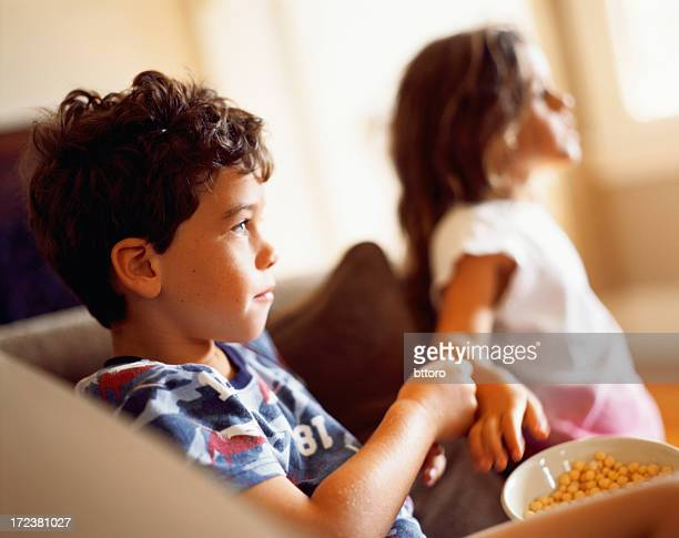 Brother Sister eating cereal