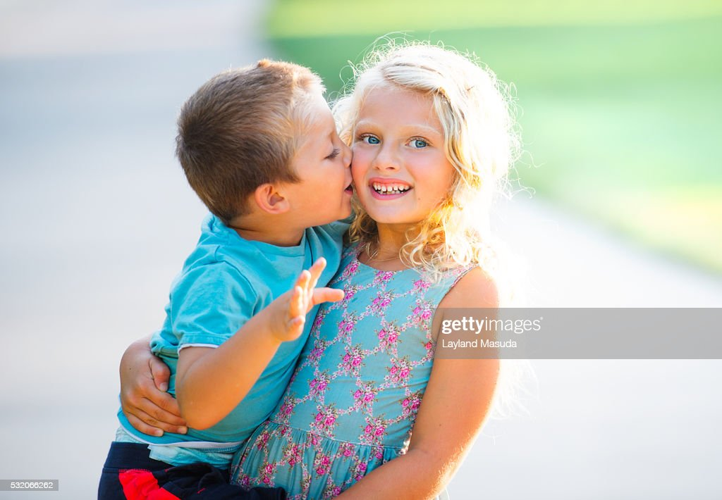 Brother Sister Love Kissing Stock Photo Getty Images