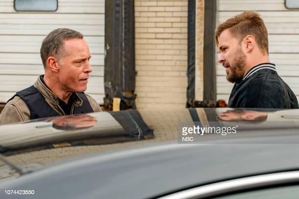 D Brotherhood Episode 610 Pictured Jason Beghe as Hank Voight Patrick John Flueger as Adam Ruzek