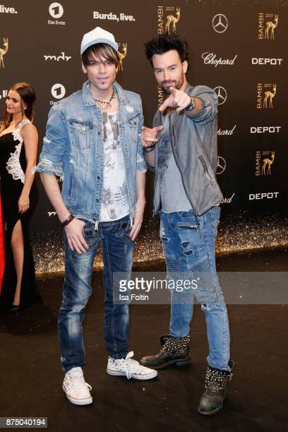 Brothers Andreas Ehrlich and Christian Ehrlich arrive at the Bambi Awards 2017 at Stage Theater on November 16 2017 in Berlin Germany