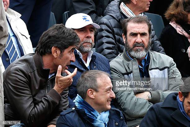 Brothers Cantona Joel Cantona JeanMarie Cantona and Eric Cantona attend Day Thirteen of the 2016 French Tennis Open at Roland Garros on June 3 2016...