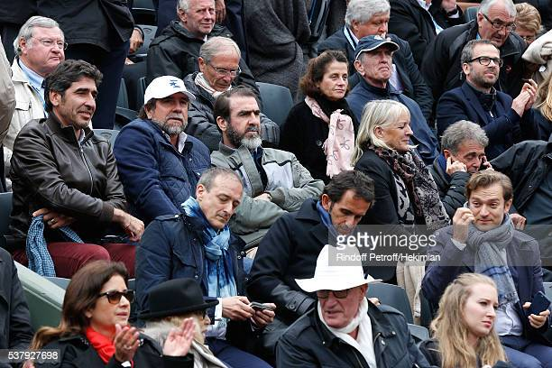 Brothers Cantona Joel Cantona JeanMarie Cantona Eric Cantona CEO of Fnac Alexandre Bompard Renaud Capucon Mireille Darc and her husband Pascal...