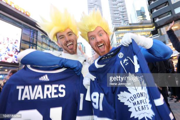 Brothers Dylan Higgins and Ryan Higgins win jerseys and tickets to the game against the Habs for pumping up the crowd at Maple Leaf Square. This year...
