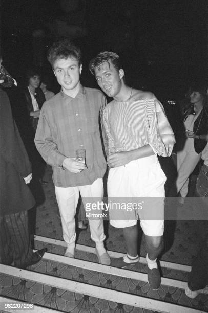 Brothers Gary and Martin Kemp of pop group Spandau Ballet at the Music Machine in London's Camden Town 26th June 1982