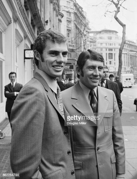 Brothers Greg and Ian Chappell attend a press reception for the Australian touring cricket team at the Waldorf Hotel in London 19th April 1972 Ian is...