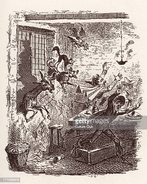 Brothers Grimm Children's and Household Tales published in 1812-15. Later known as Grimm's popular tales / Grimm's fairy tales. Illustration for '...