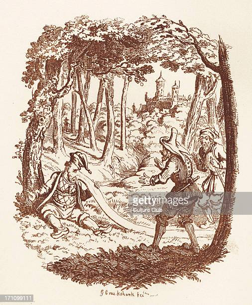 Brothers Grimm Children's and Household Tales published in 1812-15. Later known as Grimm's fairy tales. Illustration for 'The Nose' Jacob Grimm born...