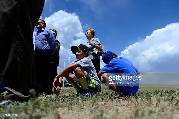 Brothers Hayden Ambuehl and Chase Ambuehl during a press conference held by the El Paso County Sheriff to inform residents of their readmittance...