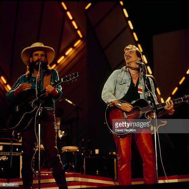 Brothers Howard and David Bellamy perform on stage at the Country Music Festival held at Wembley Arena London in April 1987