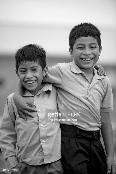 Brothers Humberto and Abner on August 1 in Langley Park MD The boys journeyed from Guatemala to live with their mother