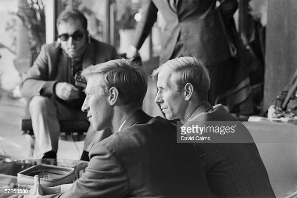 Brothers Jack and Bobby Charlton attending a reception at the Royal Garden Hotel in Kensington with other members of the victorious England World Cup...