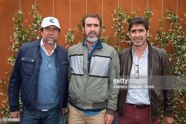 Brothers JeanMarie Cantona Eric Cantona and Joel Cantona at Roland Garros on June 3 2016 in Paris France