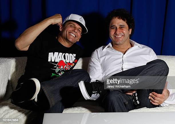 Brothers Joe Maloof and George Maloof pose for a portrait in the media lounge before the Maloof Money Cup on June 5, 2010 at Flushing Meadows Corona...