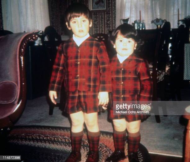 Brothers Jonathan Knight and Jordan Knight of New Kids On The Block as children circa 1973