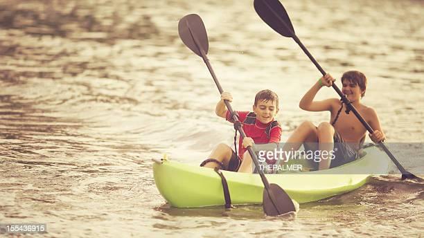 brothers kayaking