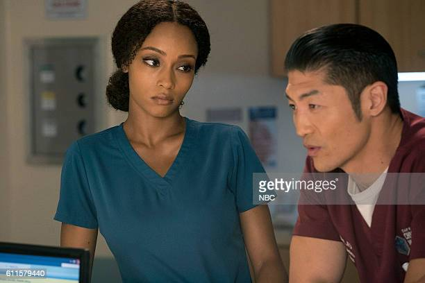 MED Brother's Keeper Episode 204 Pictured Yaya DaCosta as April Sexton Brian Tee as Ethan Choi