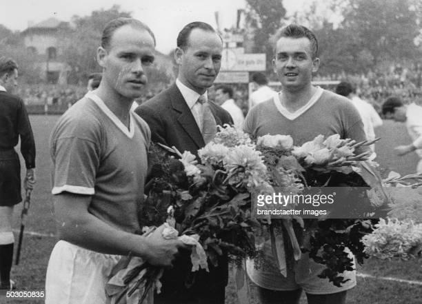 Brothers Körner and Ernst Happel. 1954? Photograph.