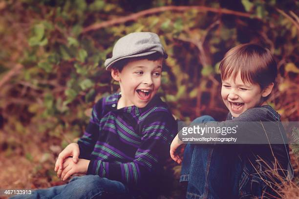 brothers laughing together