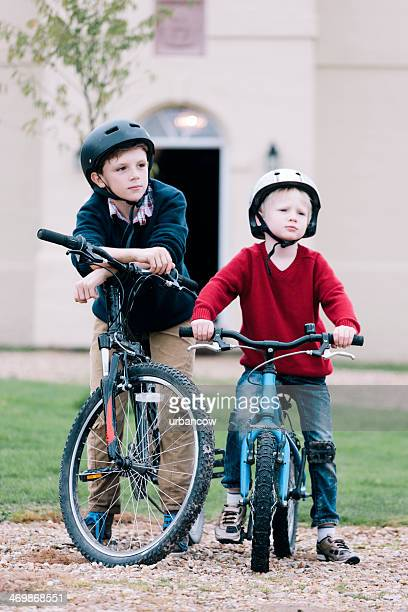 Brothers on bikes