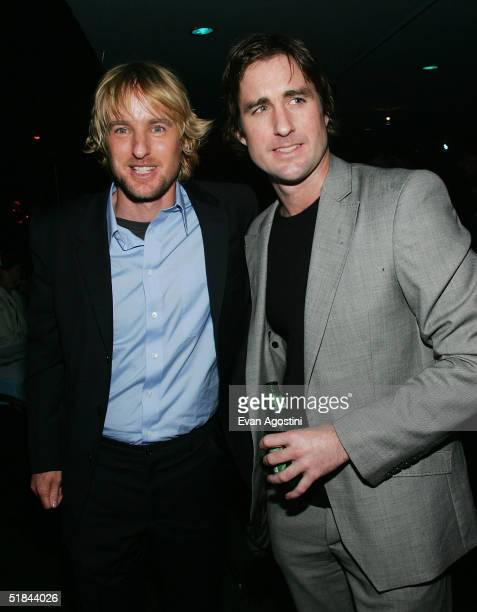 "Brothers Owen and Luke Wilson attend ""The Life Aquatic With Steve Zissou"" premiere after party at Roseland Ballroom December 9, 2004 in New York City."