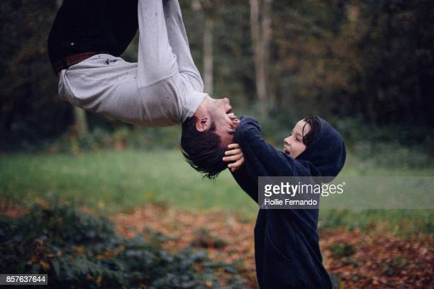 Brothers Playing In a Tree