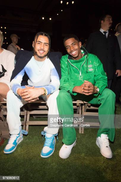 Brothers Quincy and Christian Casey Combs attend the OffWhite Menswear Spring/Summer 2019 show as part of Paris Fashion Week Week on June 20 2018 in...