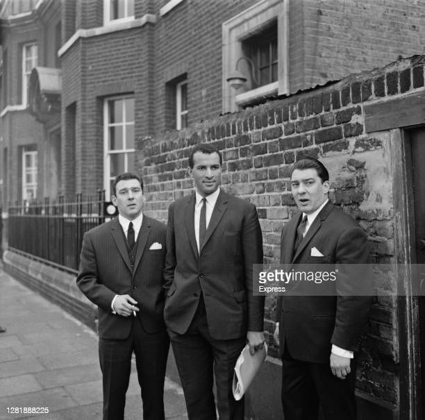 Brothers Reginald and Ronald Kray at Thames Street Court in London, 26th October 1965.