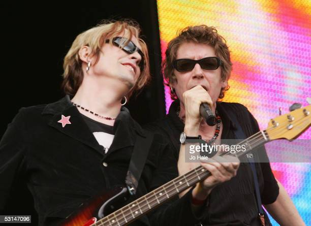 Brothers Richard Butler and Tim Butler of The Psychedelic Furs performs on stage at the Wireless Festival in Hyde Park on June 24 2005 in London...