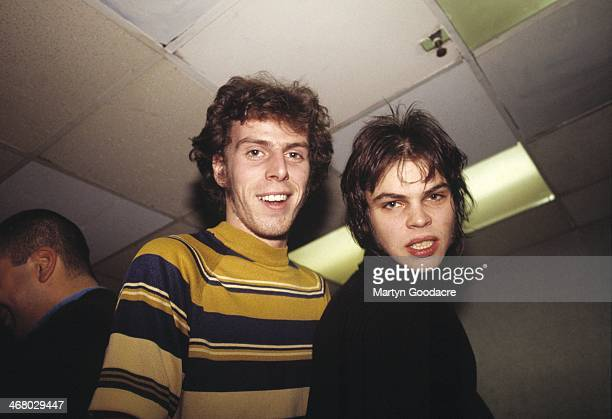 Brothers Rob and Gaz Coombes of Supergrass, backstage, United Kingdom, 1999.