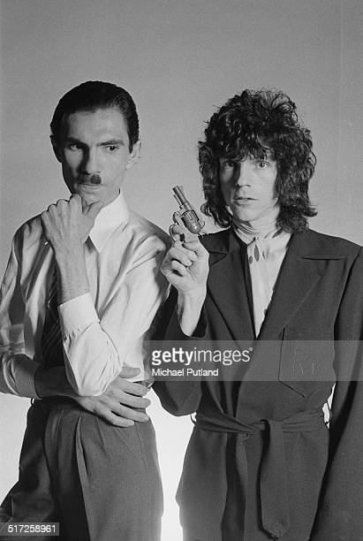 Brothers Ron and Russell Mael of American rock group Sparks, 1974.
