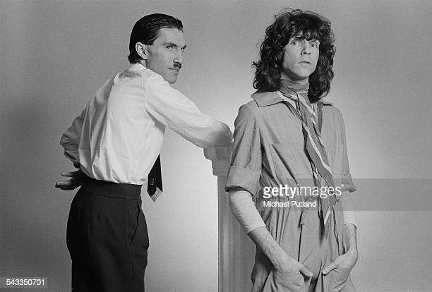 Brothers Ron and Russell Mael of American rock group Sparks, March 1975.