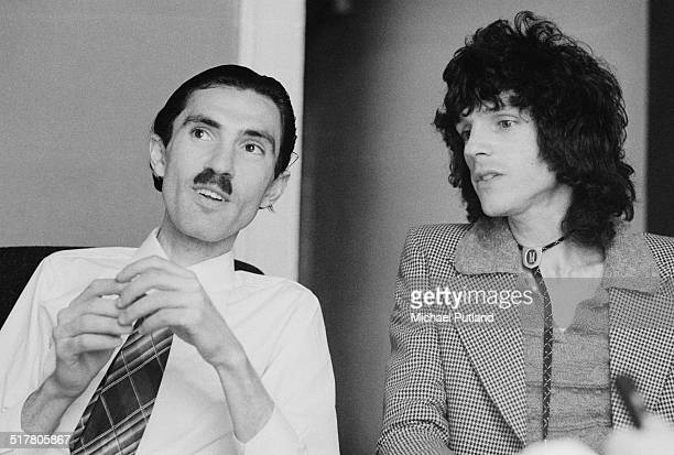 Brothers Ron and Russell Mael of American rock group Sparks, May 1974.