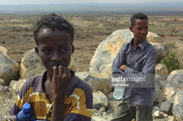 Brothers Said and Ali watch over their flock of goats February 21 2003 in Djibouti Town Djibouti Located in the Horn of Africa Djibouti has taken on...