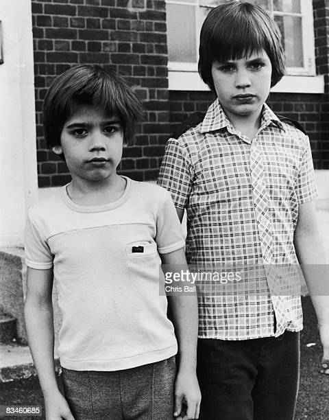 Brothers Simon and Adam Burden Catford south London 16th May 1980