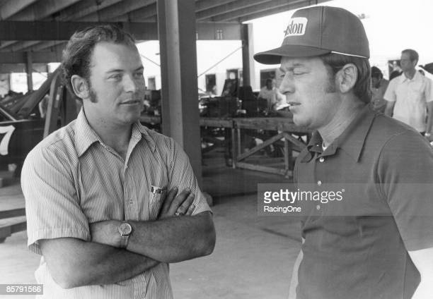 Brothers Tony and Gary Bettenhausen at Daytona Gary ran Roger Penske's AMC Matador in the 500 and Tony diced around in the Sportsman division