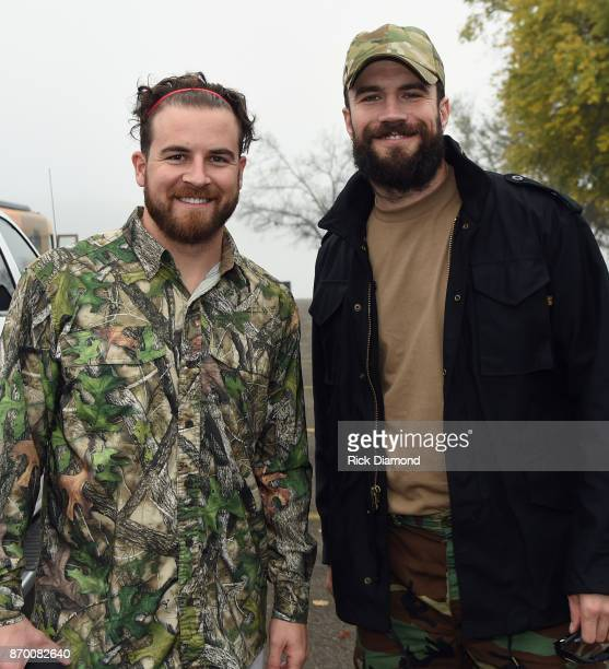 Brothers Van Hunt and Singer/Songwriter Sam Hunt attend Th3 Legends Cast For A Cure Tournament Benefiting The TJ Martell Foundation at Sanders Ferry...