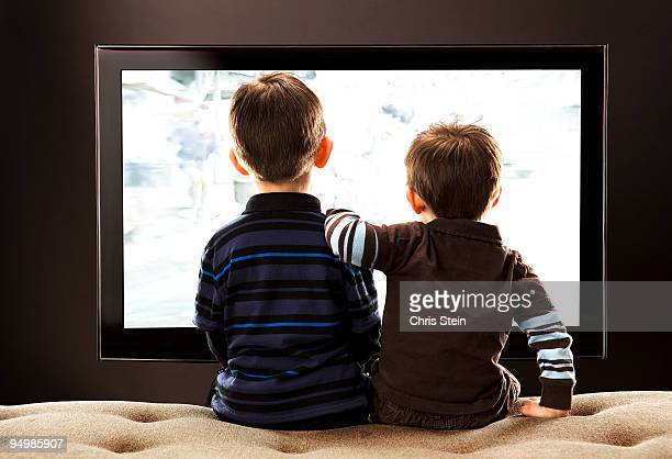 Brothers Watching TV