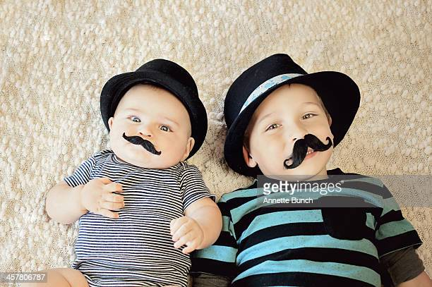 Brothers with mustaches