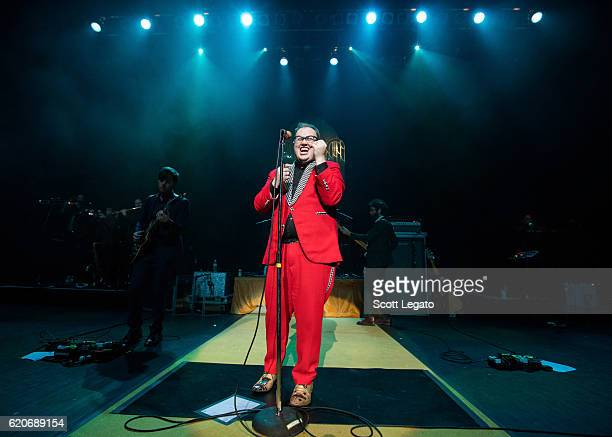 Browan Lollar Paul Janeway and Jesse Phillips of St Paul and The Broken Bones perform at The Fillmore on November 2 2016 in Detroit Michigan